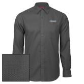 Red House Dark Charcoal Diamond Dobby Long Sleeve Shirt-CSU Bakersfield Roadrunners