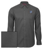 Red House Dark Charcoal Diamond Dobby Long Sleeve Shirt-B