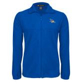 Fleece Full Zip Royal Jacket-Primary Logo Embroidery