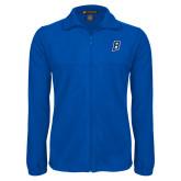 Fleece Full Zip Royal Jacket-B Embroidery