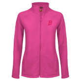 Ladies Fleece Full Zip Raspberry Jacket-B