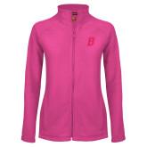 Ladies Fleece Full Zip Raspberry Jacket-B