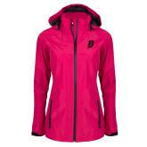 Ladies Dark Fuchsia Waterproof Jacket-B