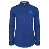 Ladies Royal Twill Button Down Long Sleeve-B Embroidery