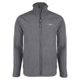 Grey Heather Softshell Jacket-Primary Logo Embroidery