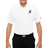 Under Armour White Performance Polo-B Embroidery