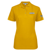 Ladies Easycare Gold Pique Polo-2017 WAC Champions - Mens Basketball Stacked
