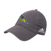 Adidas Charcoal Slouch Unstructured Low Profile Hat-Primary Logo