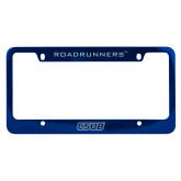 Metal Blue License Plate Frame-CSUB Engraved