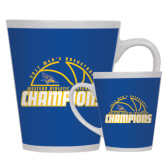 12oz Ceramic Latte Mug-2017 Western Athletic Conference Champions - Mens Basketball Half Ball