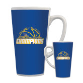 Full Color Latte Mug 17oz-2017 Western Athletic Conference Champions - Mens Basketball Half Ball