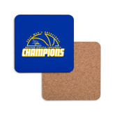 Hardboard Coaster w/Cork Backing-2017 Western Athletic Conference Champions - Mens Basketball Half Ball