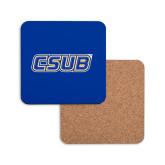Hardboard Coaster w/Cork Backing-CSUB