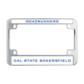 Metal Motorcycle License Plate Frame in Chrome-Roadrunners