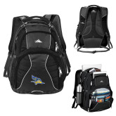 High Sierra Swerve Black Compu Backpack-Primary Logo