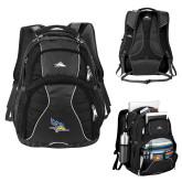 High Sierra Swerve Black Compu Backpack-Primary Logo Embroidery