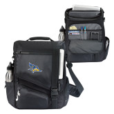 Momentum Black Computer Messenger Bag-Primary Logo Embroidery