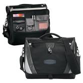 Slope Black/Grey Compu Messenger Bag-Cragar