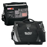 Slope Black/Grey Compu Messenger Bag-Black Rock