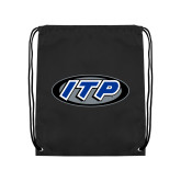 Black Drawstring Backpack-ITP
