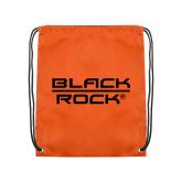 Orange Drawstring Backpack-Black Rock