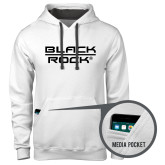 Contemporary Sofspun White Hoodie-Black Rock