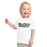Toddler White T Shirt-Black Rock