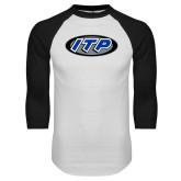 White/Black Raglan Baseball T Shirt-ITP