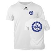 Adidas White Logo T Shirt-Cragar 50th Anniversary