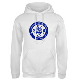 Russell DriPower White Fleece Hoodie-Cragar 50th Anniversary
