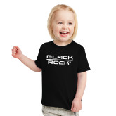 Toddler Black T Shirt-Black Rock