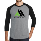Grey/Black Tri Blend Baseball Raglan-Marastar