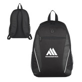 Atlas Black Computer Backpack-Marastar