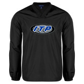 V Neck Black Raglan Windshirt-ITP