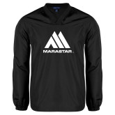 V Neck Black Raglan Windshirt-Marastar