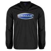 V Neck Black Raglan Windshirt-Cragar