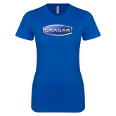 Next Level Ladies SoftStyle Junior Fitted Royal Tee-Cragar