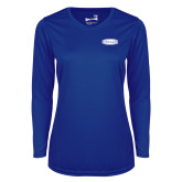 Ladies Syntrel Performance Royal Longsleeve Shirt-Cragar
