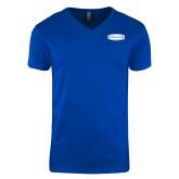 Next Level V Neck Royal T Shirt-Cragar