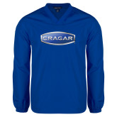 V Neck Royal Raglan Windshirt-Cragar