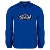 V Neck Royal Raglan Windshirt-ITP