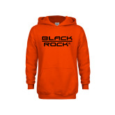 Youth Orange Fleece Hoodie-Black Rock