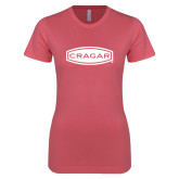 Next Level Ladies SoftStyle Junior Fitted Pink Tee-Cragar