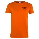 Ladies Orange T Shirt-Black Rock