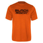 Performance Orange Tee-Black Rock