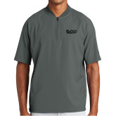 New Era Charcoal Cage Short Sleeve 1/4 Zip-Black Rock