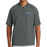New Era Charcoal Cage Short Sleeve 1/4 Zip-Cragar