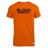 Russell Orange Essential T Shirt-Black Rock