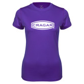 Ladies Syntrel Performance Purple Tee-Cragar