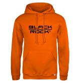 Russell DriPower Orange Fleece Hoodie-Black Rock